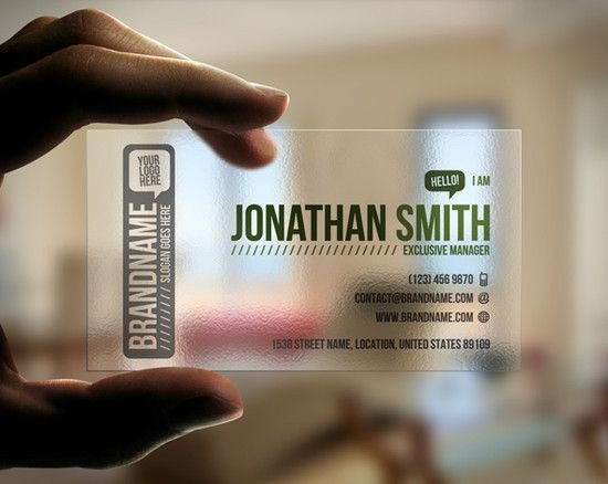 80 Most Creative Transparent and Waterproof Business Cards Designs