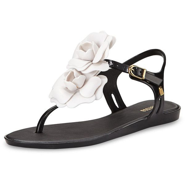 Melissa Shoes Solar Garden Thong Sandal (66 AUD) ❤ liked on Polyvore