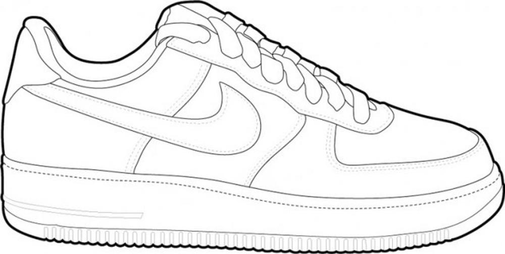 air force 1 dessin