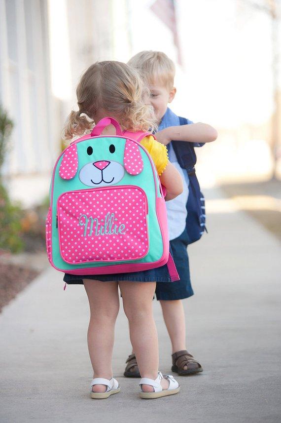 Pink Puppy PRESCHOOL Personalized Backpack Girls Book Bag e969c751e5bea