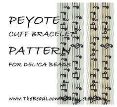 Peyote Cuff Bracelet Pattern Vol.33  by thebeadloomgallery on Etsy, $4.50