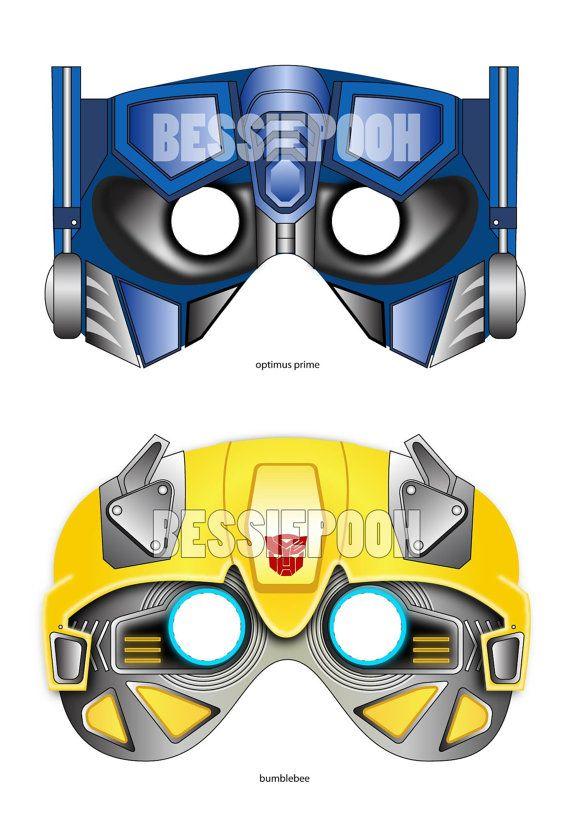 Transformers Masks Printable Pdf 6 00 Via Etsy