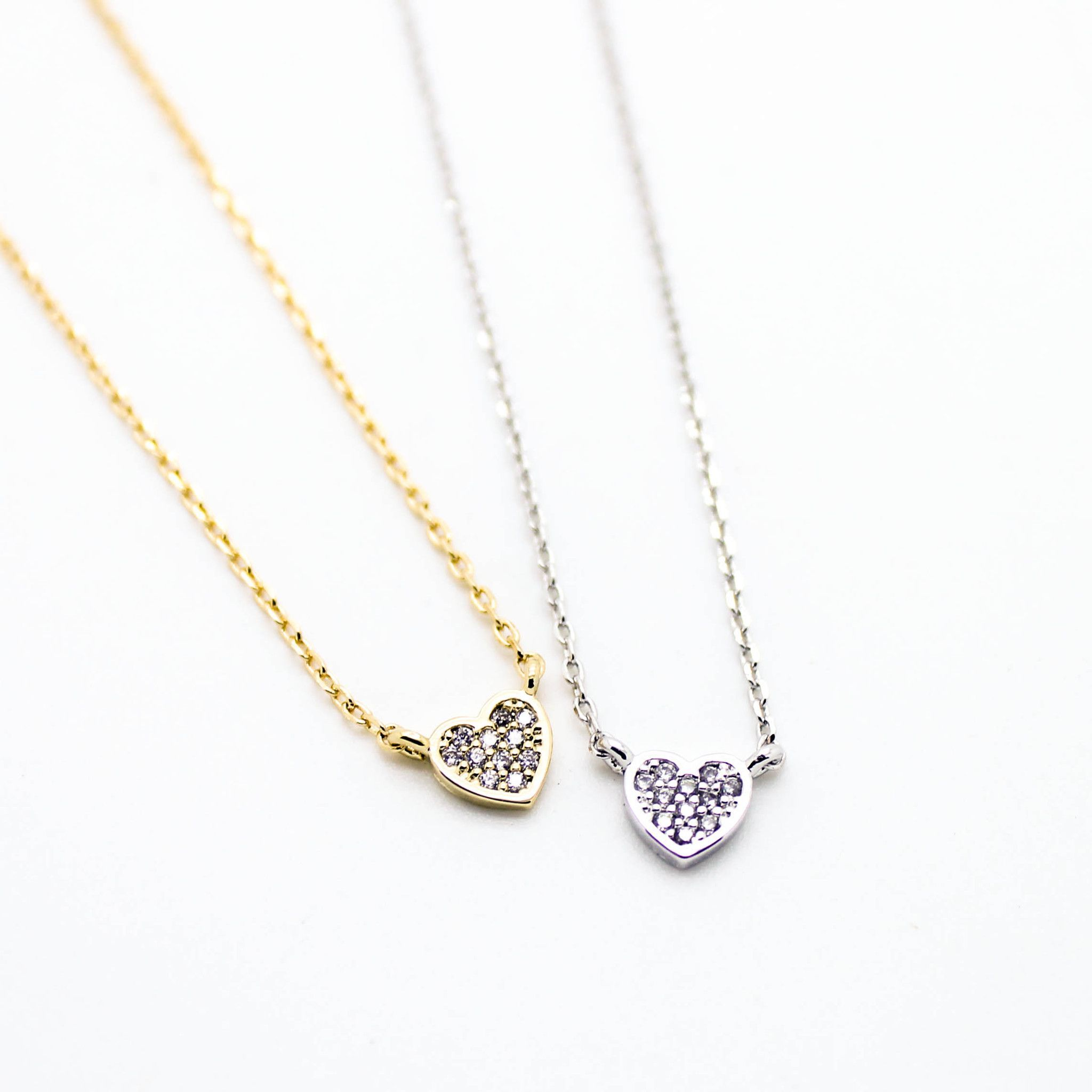 product normal necklace heart gallery jewelry ny metallic in mini gold lyst ginette