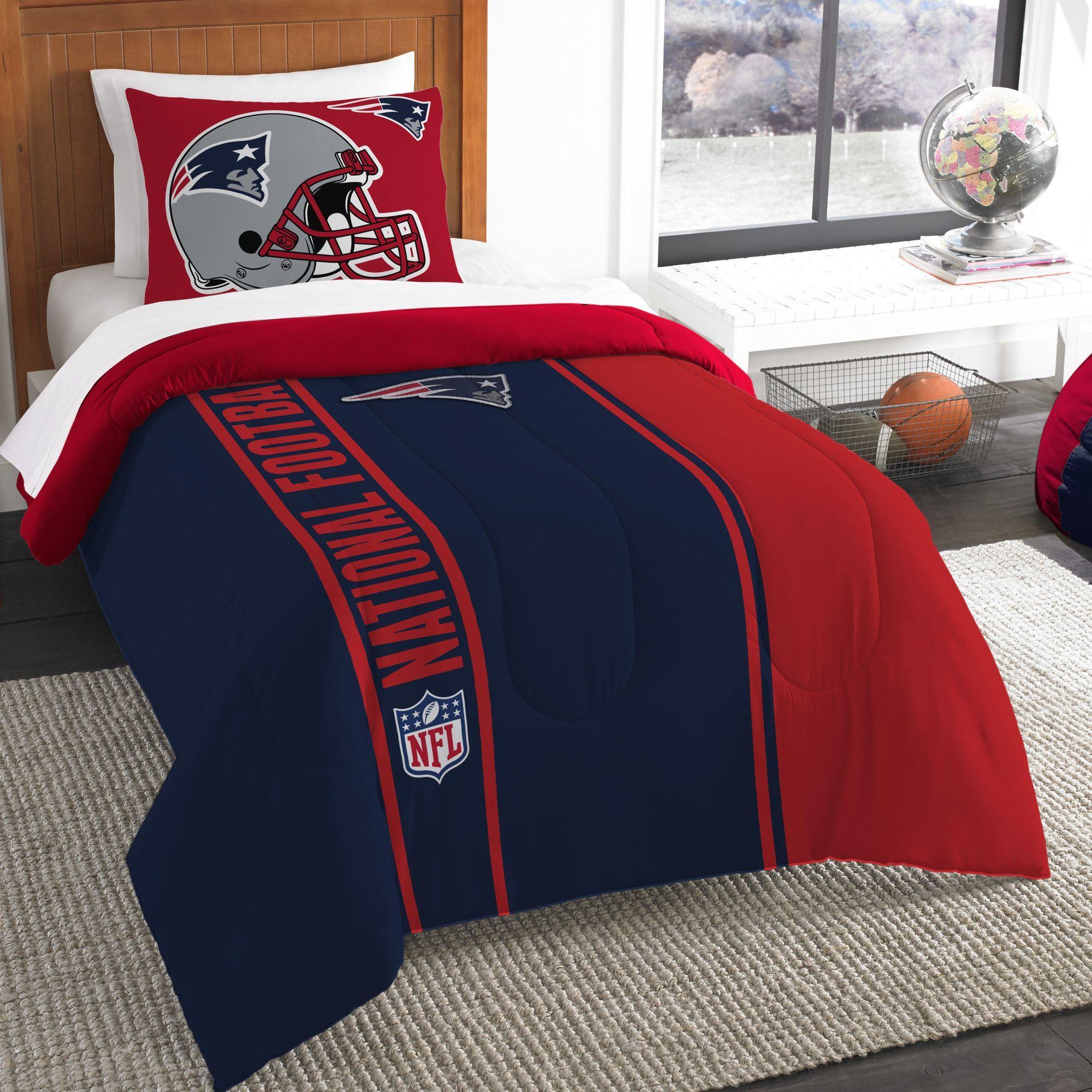 Nfl Patriots Helmet Comforter Set Products Pinterest