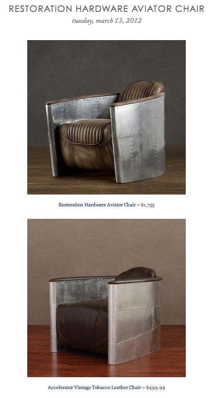 Super Restoration Hardware Aviator Chair Vs Accelerator Vintage Short Links Chair Design For Home Short Linksinfo