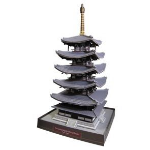 Five storied pagoda of Horyuji Temple, Japan - Asia / Oceania - Architecture - Paper Craft - Canon CREATIVE PARK