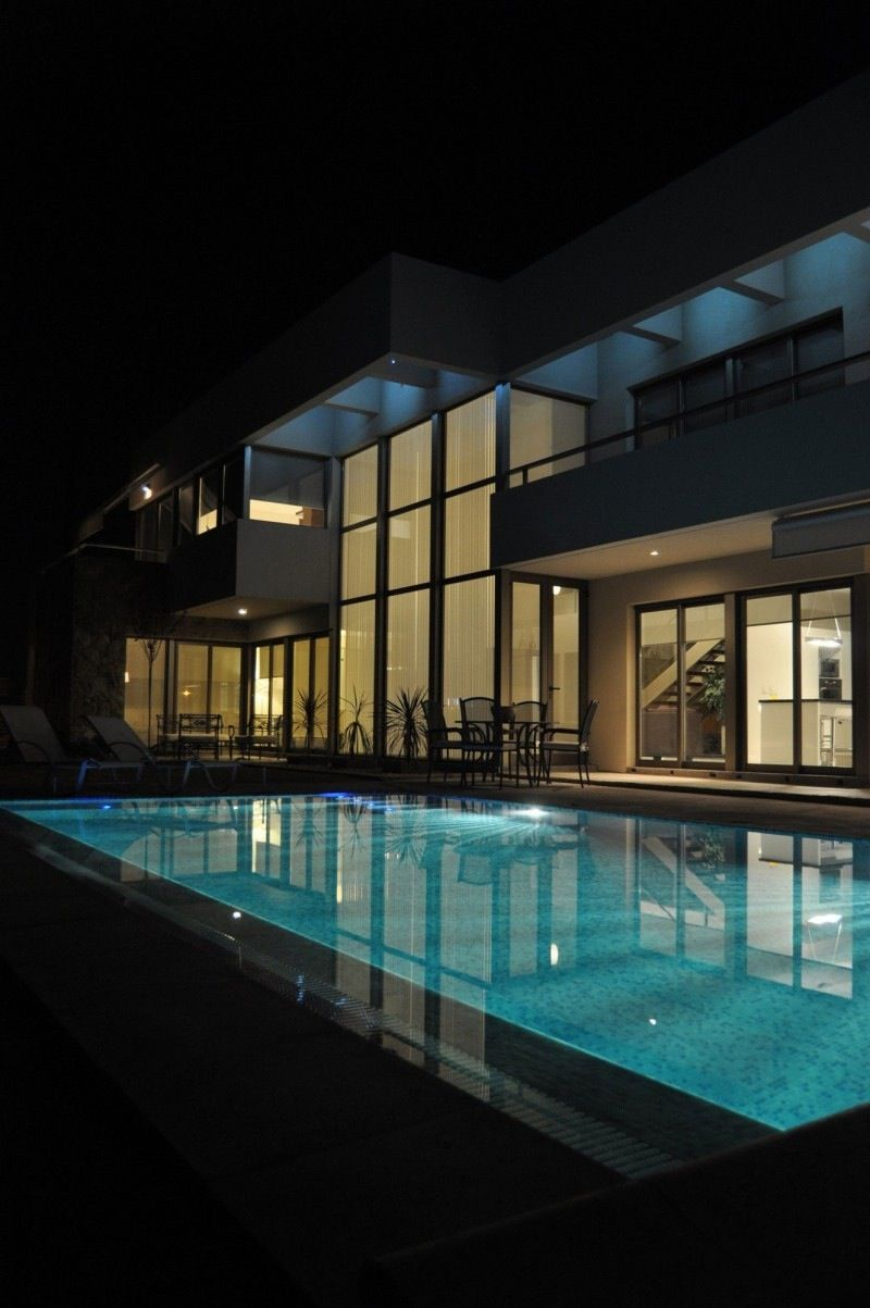 Exterior .. Modern big house and pool