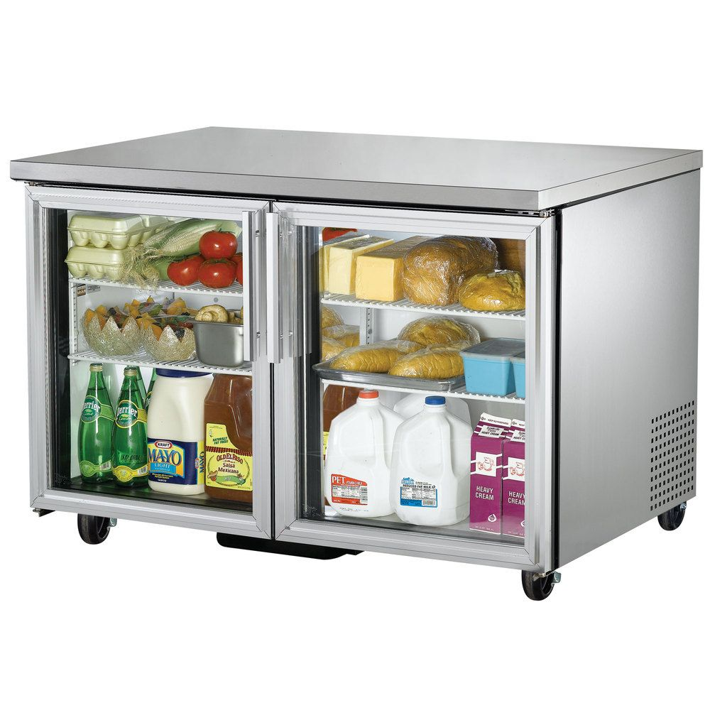 True Tuc 48g 48 Glass Door Undercounter Refrigerator Undercounter Refrigerator Glass Door Refrigerator Refrigerator Drawers