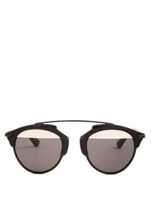 f08ad83ac446 Dior's So Real sunglasses have garnered cult status. This black acetate  style features a signature bridgeless silhouette with sleek aviator-style  frames, ...