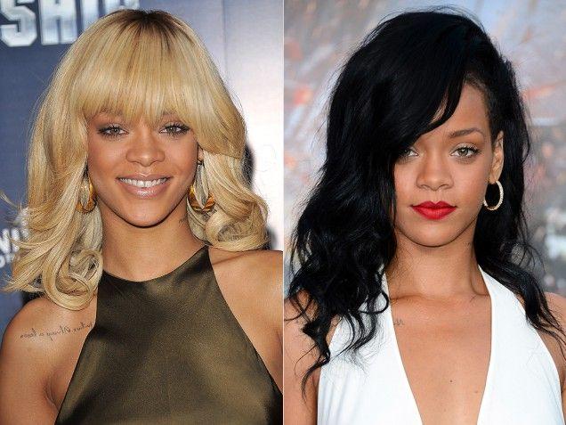Rihanna Celebrity Hair Color Changes Celeb Hairstyles Rihanna