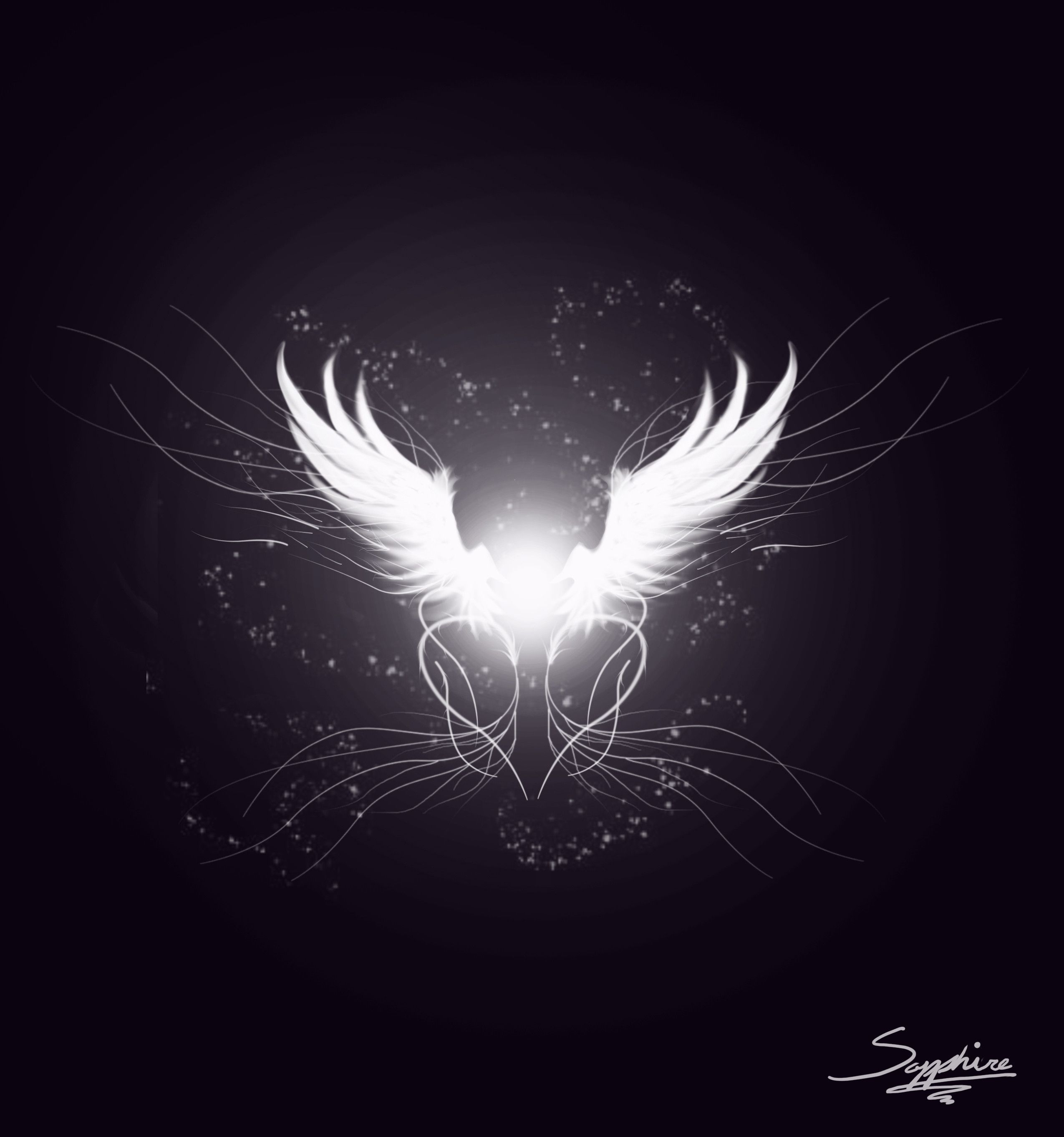 Images For White Angel Wings Wallpaper
