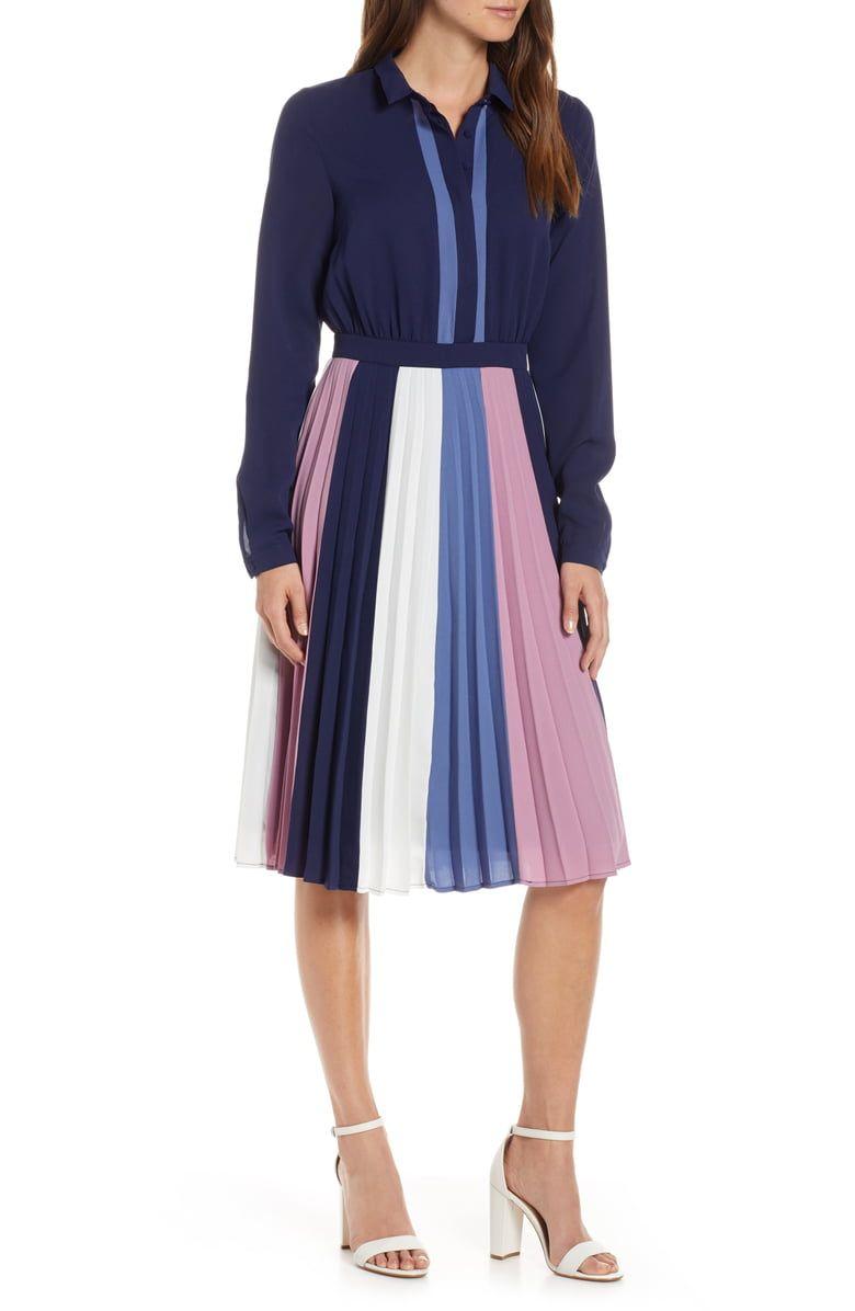 ad5f60fc20 1901 Colorblock Midi Dress
