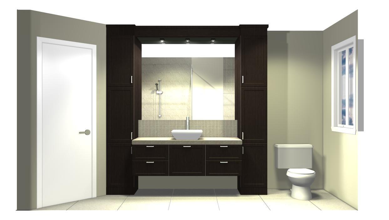 0100 Aménagement salle de bains / Style contemporain / Meuble ...
