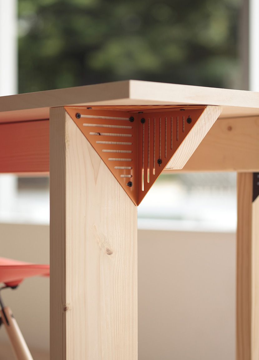 module furniture. Corner Module / コーナーモジュール | You Can Make Desk , Shelf And Lamp-shade By Using Modules. コーナーモジュールを用いて、机、照明、棚などの Furniture