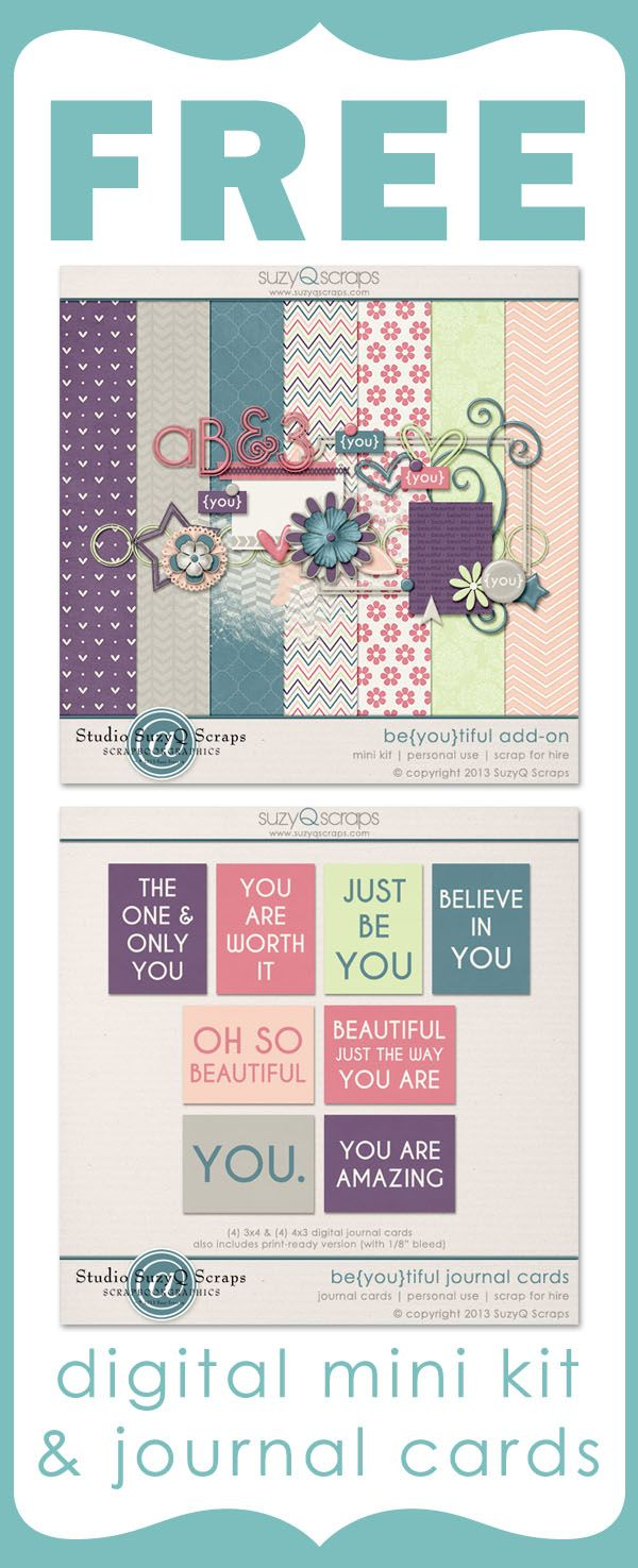 Free Digital Mini Kit And Free Journal Cards Great For Digital