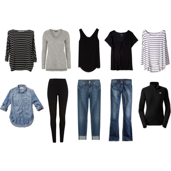 10 Piece Wardrobe by kristananne on Polyvore featuring Abercrombie & Fitch, SUMMERSKIN, Topshop, Aéropostale, Zara, Lucky Brand, 7 For All Mankind, The North Face and River Island