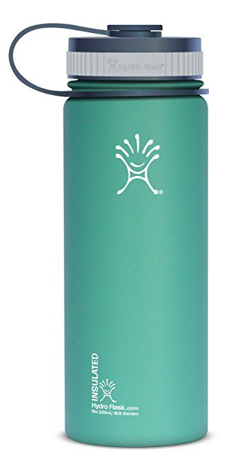Hydro Flask Insulated Stainless Steel Water Bottle, Wide Mouth, 18-Ounce, Green Zen