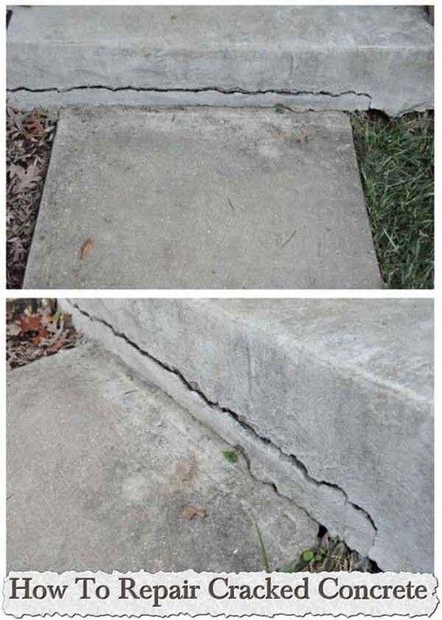 How To Repair Cracked Concrete Repair Cracked Concrete Diy Home Repair Home Repairs
