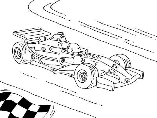 Car And Truck Coloring Pages Formula 1 Car Desenho Desenhos Colorir
