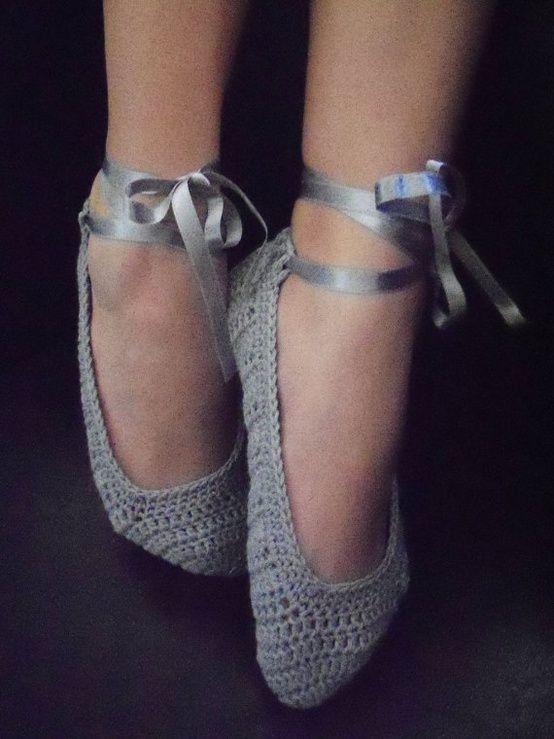 Home Slippers Gray I Like The Ribbon Random Yarn Tutorials