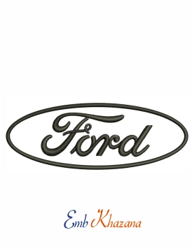 Ford Car Logo Embroidery Design In 2020 Embroidery Logo Car Logos Embroidery Designs