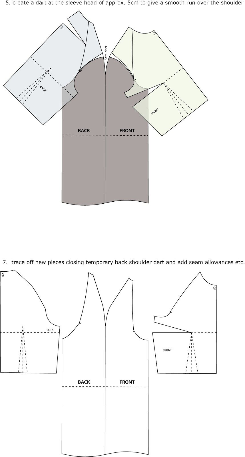 Introduction to Pattern Cutting: Raglan Sleeve | Sewing | Pinterest ...