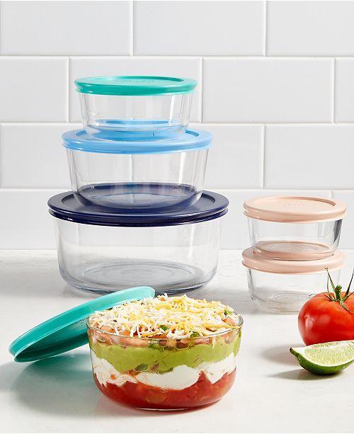 Pyrex 12 Pc Storage Set Reviews Bakeware Kitchen Macy S Storage Sets Pyrex Glass Storage Containers