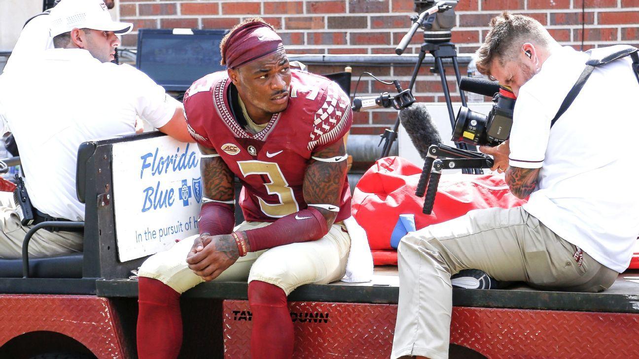 Seminoles James Injures Knee Doesn T Return Knee Injury Florida State Football Florida State Seminoles