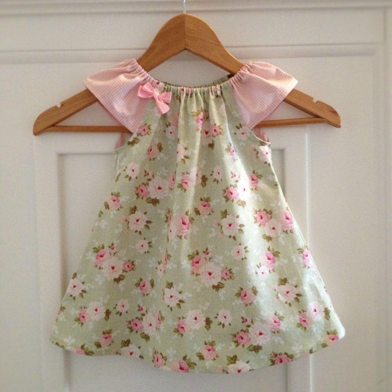 Baby Girls Dress 12 18 months Peasant Dress Tilda Fabric