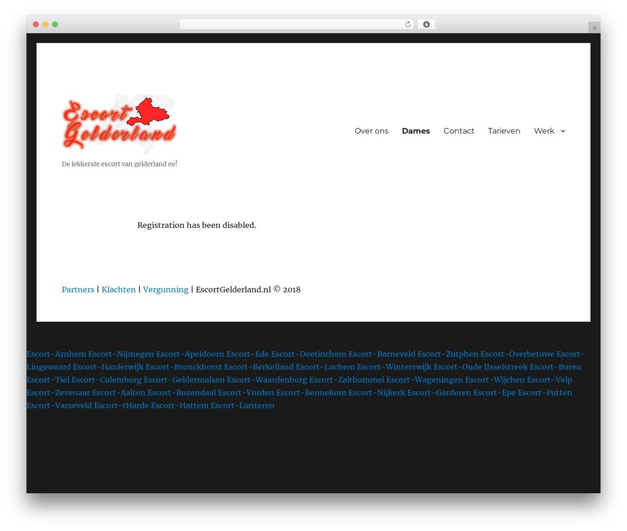 Free escort web page