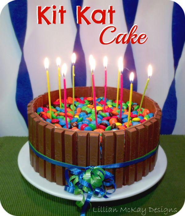 Kit Kat Birthday Cakejust For You Catherinehappy Birthday