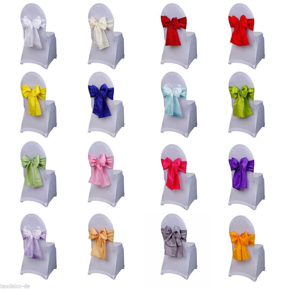 Schleifenbander Aus Taft Schleifen Fur Stuhlhussen Tischlaufer
