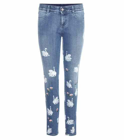Printed cropped skinny jeans | Stella McCartney
