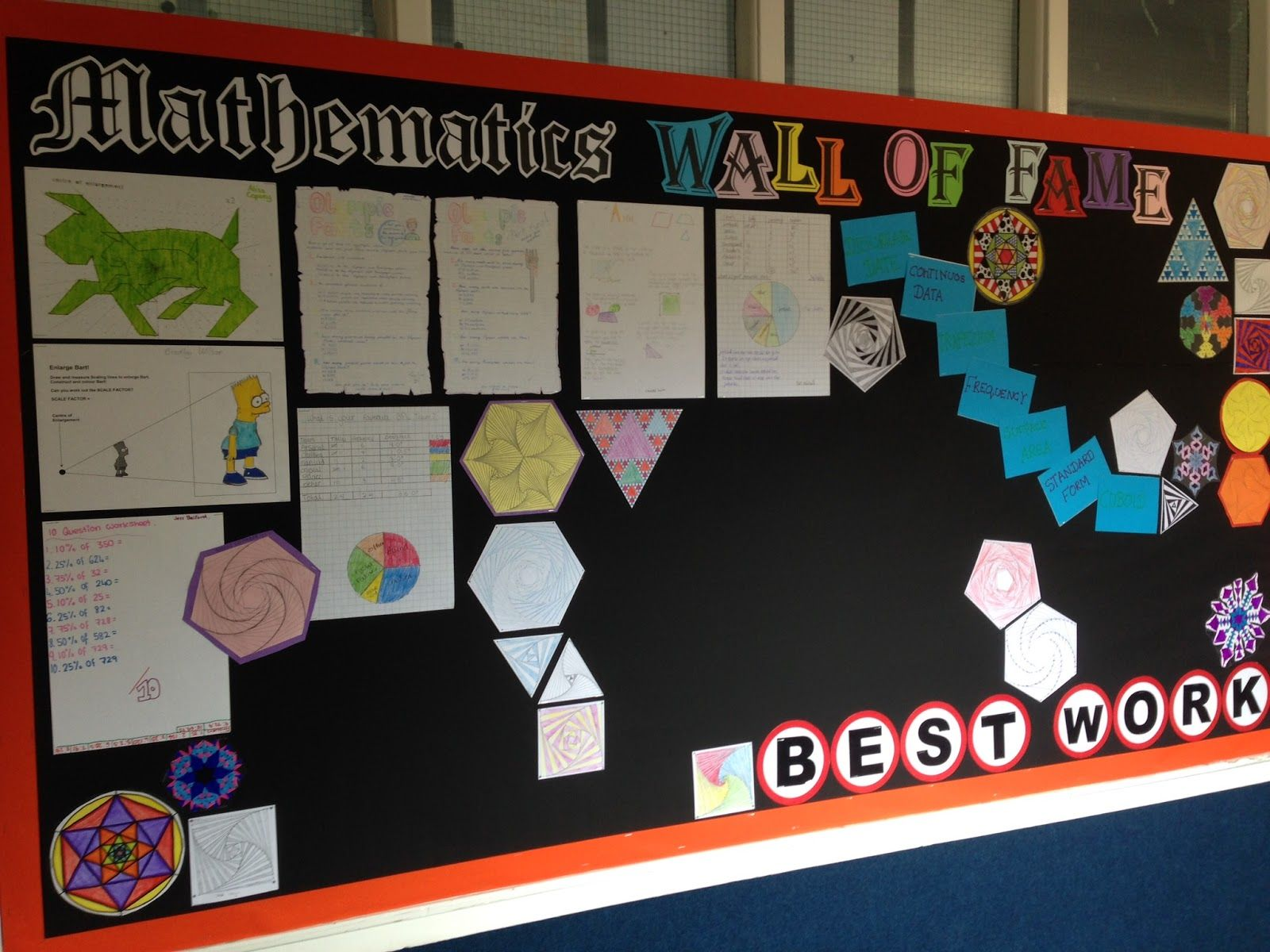 maths displays secondary | love this display - another ...