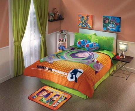Coordinado de edred n toy story 3 decoracion intimahogar for Decoracion de interiores recamaras para ninos