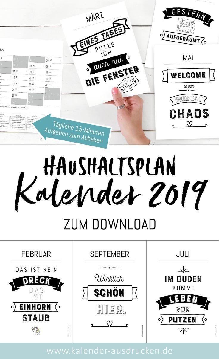 kalender mit haushaltsplan das jahr 2019 wird blitzblank. Black Bedroom Furniture Sets. Home Design Ideas