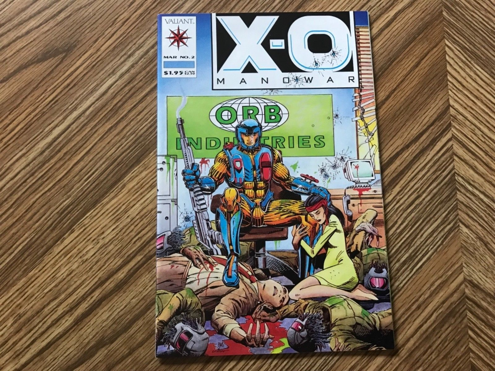 X O Manowar #2 (Mar1992) Valiant Comics Looks To Be In