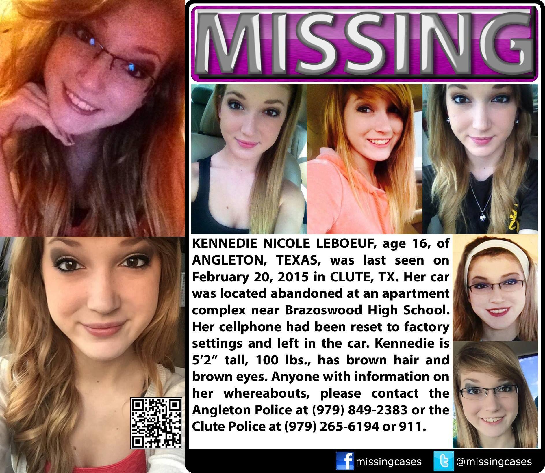 2/20/2015: Kennedie Nicole Leboeuf, Age 16, Is #missing
