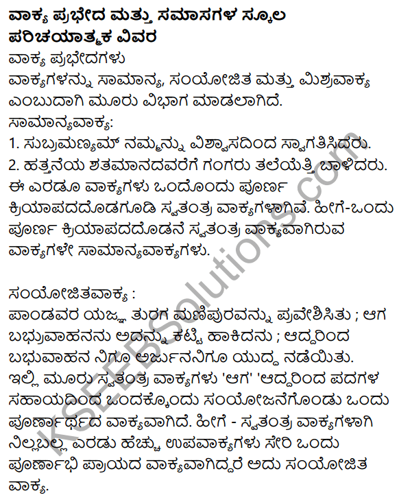 Siri Kannada Text Book Class 9 Grammar Vyakarana Bhaga 28 In 2021 Textbook Grammar Books