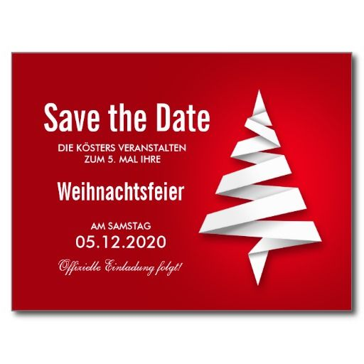 weihnachtsfeier einladung vorlage save the date postkarte. Black Bedroom Furniture Sets. Home Design Ideas