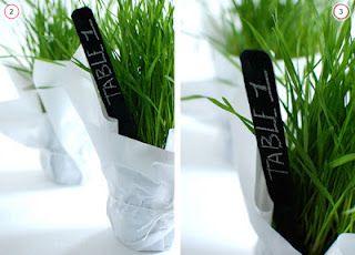 Etichette effetto lavagna per erbe aromatiche
