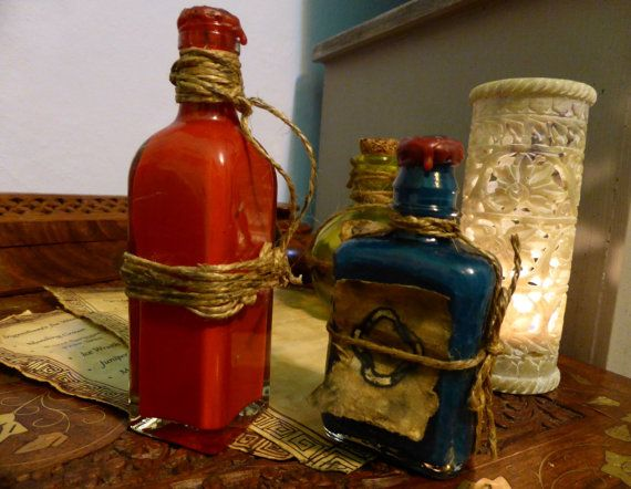 Skyrim Inspired Potion Bottles Damage Magicka or by