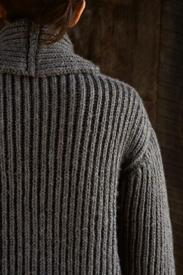 Top-Down Shawl Collar Cardigan | Purl Soho | Shawl collar ...