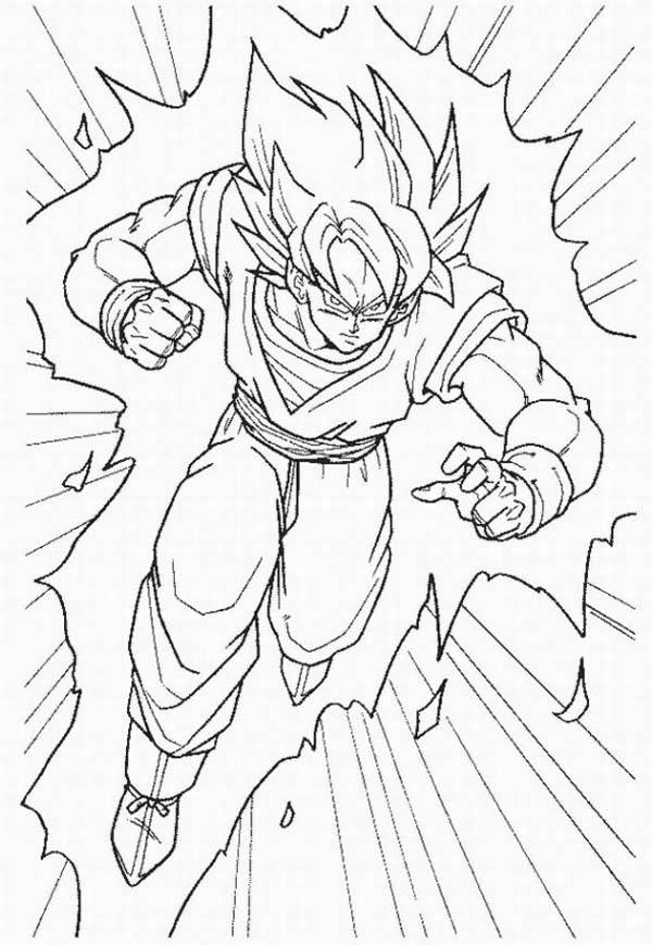 Goku Super Saiyan 5 Coloring Pages