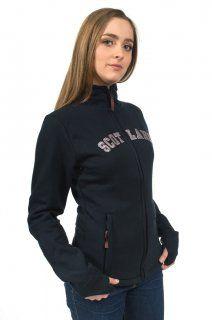 Ladies Scotland Hooded Zip top, Navy