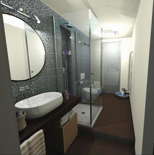 Arredamento per bagno piccolo e lungo | Bathroom ideas | Pinterest ...