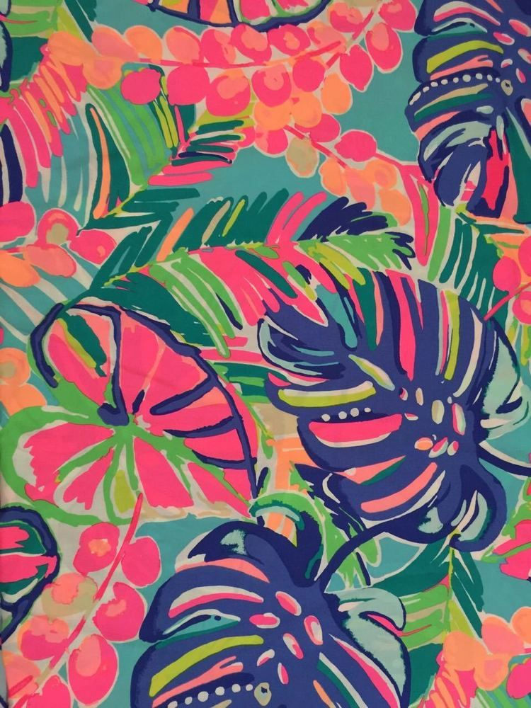 Unwashed Section Of Authentic Lilly Pulitzer Fabric 1 5 Yard 54 X 57 Width Multiple Yardage Will Be Uncut Ebay