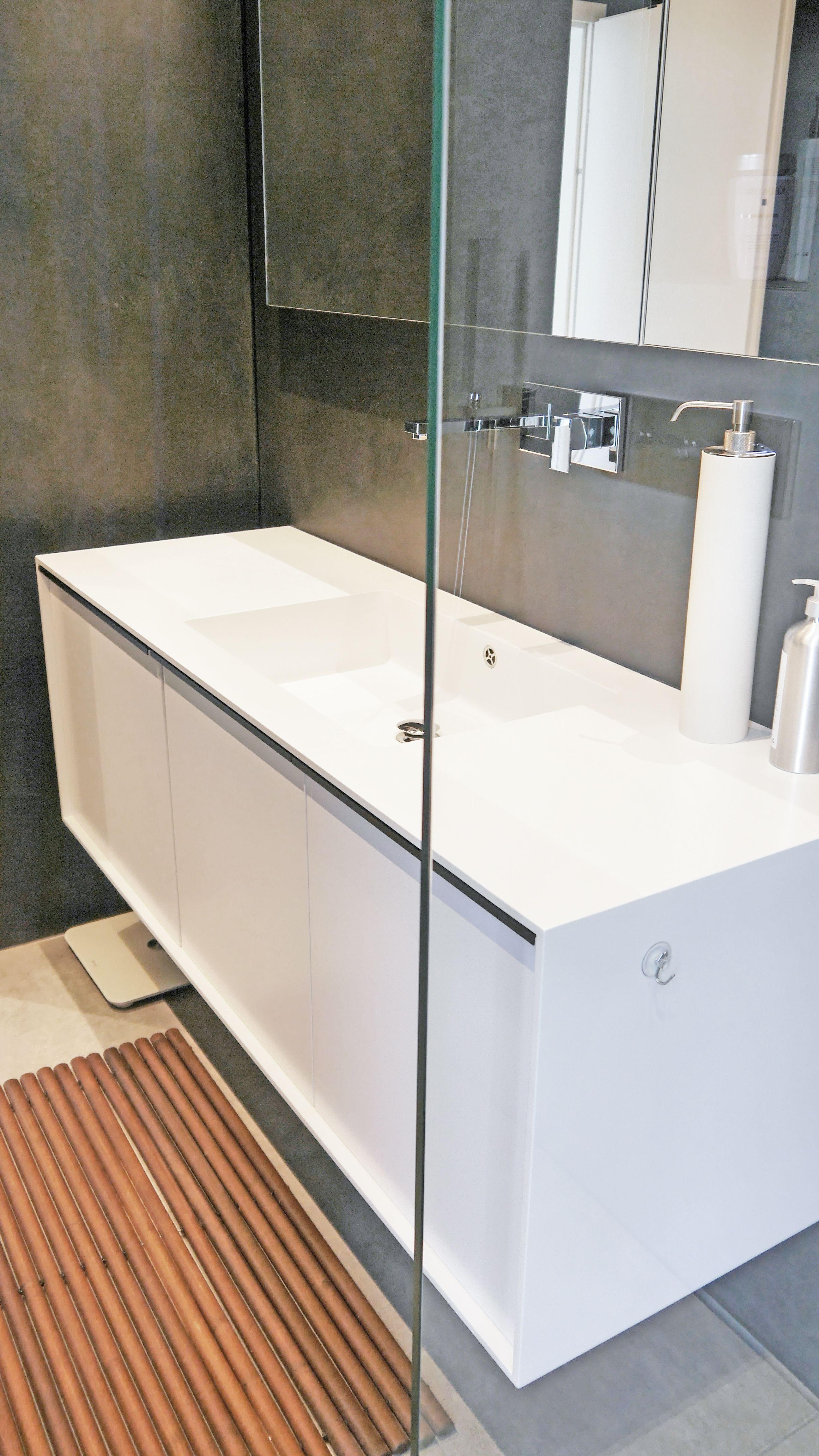 Waschtisch Mit Mineralwerkstoff Rahmen Waschtisch Einbaumobel Badezimmer Waschtische