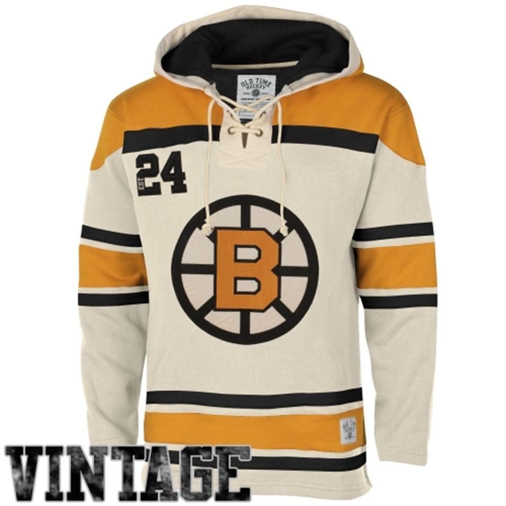Old Time Hockey Boston Bruins Lace Jersey Team Hoodie Tan Philadelphia Flyers Team Hoodies Boston Bruins