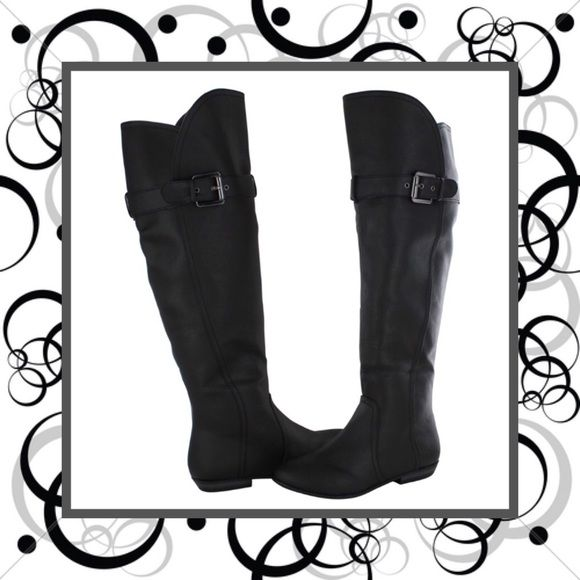 "⚪️ Just In! NEW Wide Shaft Over the Knee Boots Super cute over the knee boots with a wider shaft and buckle detailing...brand new...I have the boots adjusted to the smallest hole on the buckle...inner half zip closure...versatile & fun, these would look adorable with some thigh-high socks!! Brand: Not Rated Size: 6.5 (fit true to size in my opinion) Measurements: shaft circumference - 16.5"" Condition: brand new Not Rated Shoes Over the Knee Boots"